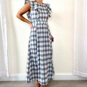 ASOS Glamorous NWT Multi Check Ruffle Maxi Dress
